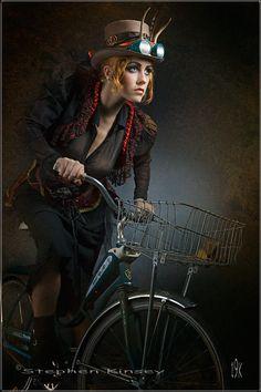 steampunk Chic on Bike