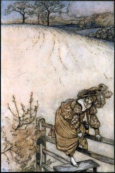 Arthur Rackham - The Ingoldsby Legends of Mirth and Marvels Second Edition 1905 - These stiles sadly bothered Odille [41]