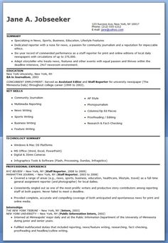 journalist resume examples