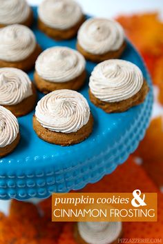 The most delicious pumpkin cookies with cinnamon buttercream frosting! http://Pizzazzerie.com