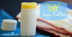 DIY Diaper Rash Stick -cloth diaper safe