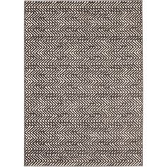 Loft Modern Chevron Stripe Grey/ Cream Polypropylene Rug (7'10 x 10') - Overstock™ Shopping - Great Deals on 7x9 - 10x14 Rugs