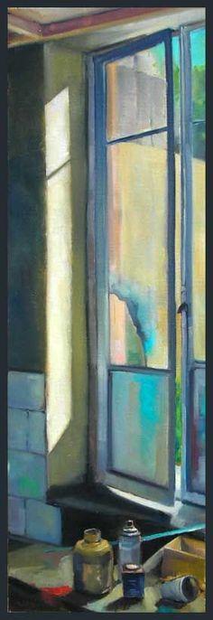 Open window fen tre ouverte peinture de carl vilhelm - Peinture porte et fenetre ...