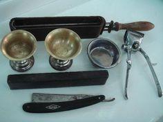 Juegos, juguetes y artículos antiguos- Utensilios de barbería