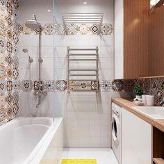 Идея дизайна ванной комнаты #дизайн #интерьер #мойдом #мояквартира