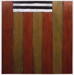 Sean Scully / South Eagle 1983 Oil on linen 72 x 72 in (182.9 x 182.9 cm)
