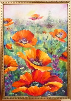 Oil Painting Flowers, Abstract Flowers, Watercolor Paintings, Watercolor Flowers Tutorial, Floral Watercolor, Acrylic Artwork, Flower Art, Art Drawings, Art Pictures