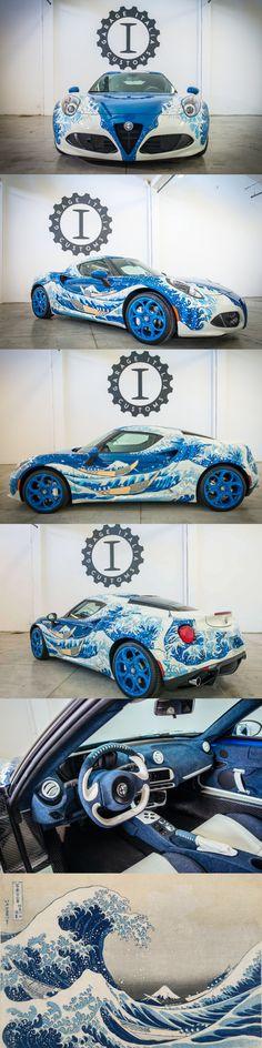2016 Alfa Romeo 4C Hokusai / Garage Italia Customs / The Great Wave of Kanagawa / Lapo Elkan / Kurabo Jeans / Italy - Japan / white blue / 17-436