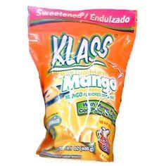 KLASS Mango instant powdered DRINK MIX fruit flavored 14.1 oz bag Vitamin C food