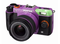 Pentax has announced a range of limited edition Pentax Evangelion Q10 cameras(JPY 59,800 about $650). The camera will equip with a 12.4-megapixel CMOS sensor, and features included Removal DRII image sensor cleaning function using ultrasonic vibrations, ISO 100 to 6400 (1/3 EV steps), up to ISO1600 and and 3 inch LCD display. Only 1,500 units will be made. They look pretty.