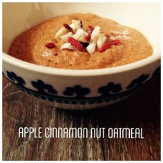 * APPLE CINNAMON NUT OATMEAL *