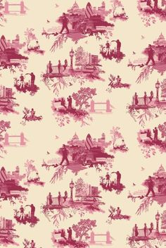 London Toile Wallpaper... this wallpaper i might actually like