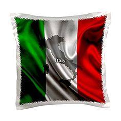 Italian Flag Design, Pillow Case, 16 by Throw Pillow Cases, Throw Pillows, Italian Interior Design, Satin Material, Flag Design, Designer Pillow, Walmart, Bleach, Closure