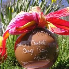 A very 'grown up Easter Egg. Chocolate Orange Liqueur