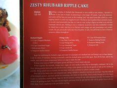Rhubarb Ripple Cake