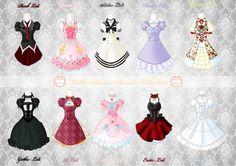 Loli Dresses Summer Collection by *Neko-Vi on deviantART