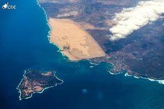 ¡Espectacular! Toma aérea de la Isla de Lobos y de las Dunas de Corralejo