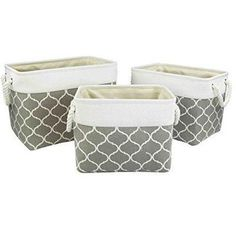 We're your one-stop-shop for hangers and clothing organizers. At Hangorize, we provide a wide-selection of quality hangers & clever clothing storage solutions.Check out our 3 Lattice Canvas Nesting Square Storage Bins in grey grey! Round Canvas, Wood Monogram, Laundry Room Organization, Organization Ideas, Bedroom Storage, Bedroom Closets, Bedrooms, Shops, Home Storage Solutions