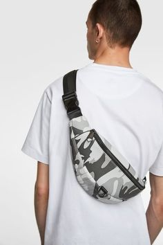 ZARA - Male - Camouflage printed belt bag - Multicolor - M Camouflage, Shoulder Sling, Going Home, Sling Backpack, Menswear, Backpacks, Belt, Fanny Pack, Streetwear