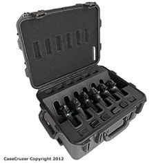 Quick Draw 6 Pack Universal Handgun Case with Wheels