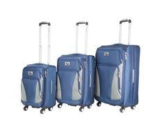 3 PC. set luggage. CH-203 in Navy/Grey. #TravelinStyle #ChariotTravelware