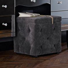 Ottoman Storage | Ottoman Boxes | Ottoman Stools Ottoman Storage, Ottoman Stool, Book Storage, Bedroom Ottoman, Stools, Boxes, Interior, Leather, Benches