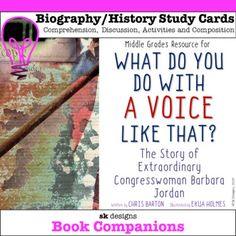 Reading Books, Guided Reading, School Resources, Teaching Resources, Chris Barton, Barbara Jordan, Constitution Day, Comprehension Activities, Book Study