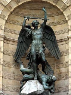 St. Michael, 1860, Francisque Joseph Duret.  (I love this statue, Michael is smiting Satan)