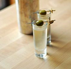 Dirty Martini Shooters | 13 Vodka Shots You'll Actually Want To Take