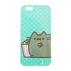Pusheen the cat is ready for the movies with iPhone case. This mint case features white polka dots with Pusheen happily eating popcorn. Cute Cases, Cute Phone Cases, Iphone Phone Cases, Cell Phone Holder, Diy Phone Case, Nim C, Claire's Accessories, Cell Phone Deals, Popcorn