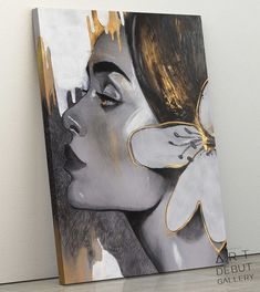 Acrylic Portrait Painting, Acrylic Painting Canvas, Portrait Art, Painting & Drawing, Surrealism Painting, Mini Canvas Art, Human Art, Art Drawings Sketches, Art Background
