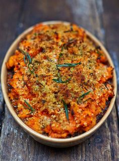 Vegan Shepherds Pie | A rich, hearty filling topped with gorgeous root-veg mash and zesty breadcrumbs for a super-crisp finish makes this dish really special #EBHolidayBakeOff2015