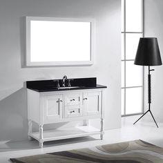 Virtu Usa Julianna 48 Inch Single Bathroom Vanity Cabinet Set