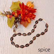 Pumpkin spice lattes, halloween costumes, Thanksgiving dinners...oh how we love Fall! Enjoy a little Spice in your wardrobe too, with this beautiful limited edition Mommy Necklace! Hurry, they'll go quick!