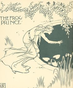 'The frog prince' illustrated by Walter Crane. Published 1874 by George Routledge and Sons, London.