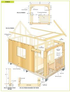 free wood cabin plans Cabin Plans With Loft, Small Cabin Plans, Cabin Floor Plans, Tiny House Plans, Small Cabins, Building A Shed, Building Plans, Plan Garage, Diy Cabin