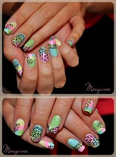 Colors, and Animal Prints @Jasmine Suydam can you please do this to my nails?? please!