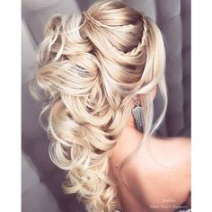 40 Best Wedding Hairstyles For Long Hair ❤ liked on Polyvore featuring accessories, hair accessories, bridal hair accessories, long hair accessories and bride hair accessories