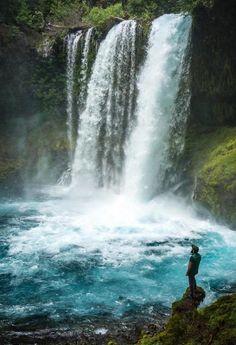 Tag someone who loves waterfalls! @lisabao captured this moment beautifully at Koosah Falls Oregon