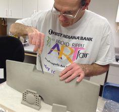 Steve is hand building a new horizon vessel. Steve Vachon , Fort Wayne, indiana