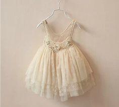 lace tutu with low back toddler girls Ivory tutu by babygirldress