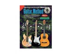 Guitar Method Book 2 - CD This book is a continuation of Progressive Guitar Method Book learn more scales and keys,how to read chords in note form,the study of bass note runs,hammer-ons,flick-offs and syncopation is covered. Book 1, This Book, Guitar Lessons, Bass, Study, Note, Learning, Flat, Studying