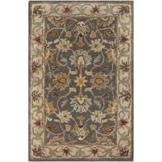 Surya CAE1005-23 Caesar 2' x 3' Rectangle Wool Hand Tufted Traditional Area Rug - gray