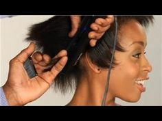 how to flatiron short hair