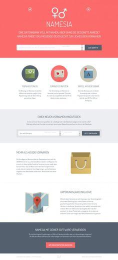 namesia - Webdesign inspiration www.niceoneilike.com