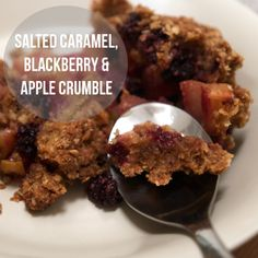 Blackberry and apple crumble, Apple crumble cake and Blackberries on ...