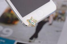 crystal star IPhone 5 Dust Plug Headphone Plug Charm,headphone jack plug on Etsy, $7.99