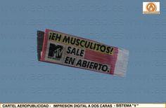 Avioneta de publicidad aerea para MTV CHANNEL - campaña de AEROPUBLICIDAD.ES a nivel Nacional ( España)