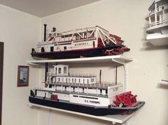Mississippi Raddampfer Modellschiff Schiff Eisen Antik-Stil 37,5cm kein Bausatz