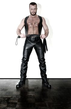 Fetiche Armada (Montreal) work by Inked Photography. Leather Cap, Leather Boots, Black Leather, Leather Jeans, Leder Outfits, Bear Men, Hairy Men, Leather Fashion, Leather